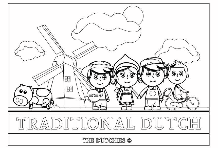 Traditional Dutch Kleurplaat